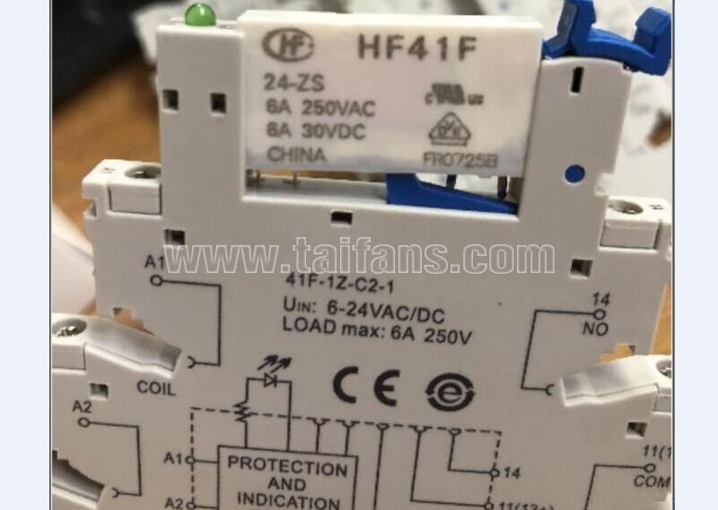 41F-1Z-C2-1 base HF41F-024-ZS HF41F-24-ZS HF41F 24-ZS 24V 24VDC DC24V 6A 250VAC